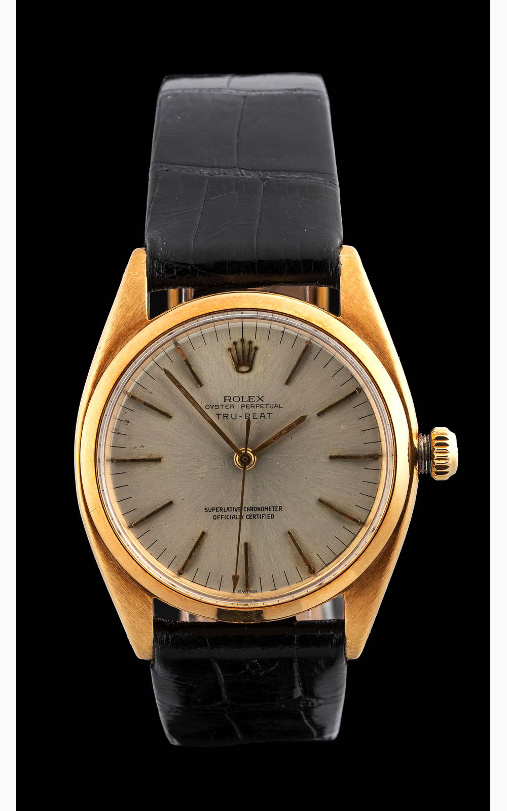 Rolex TRU-BEAT ref 6556 yellow gold, 1955