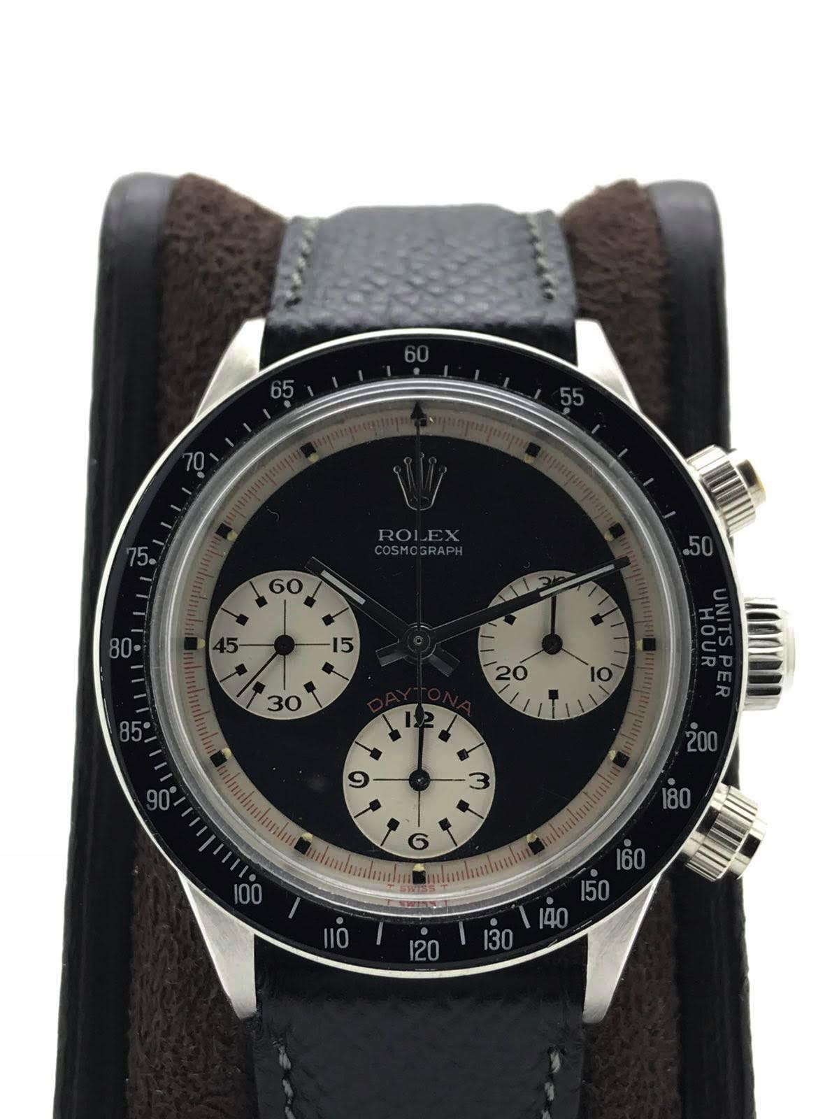 "Rolex Daytona ""Paul Newman"" 6240 wide t swiss t Three color black dial circa 1969"