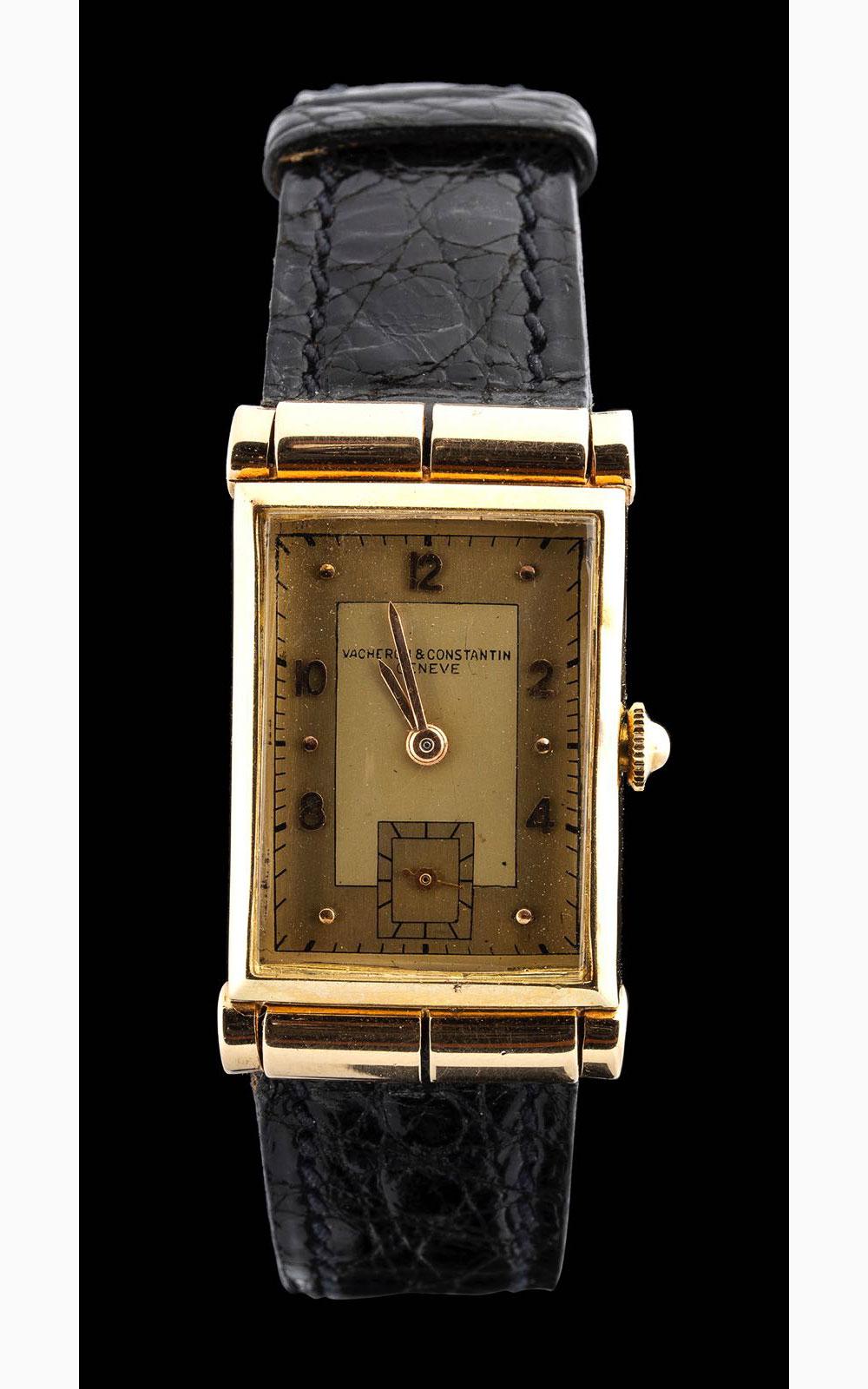 Vacheron Constantin Rectangular 14 kt gold case 1930 circa
