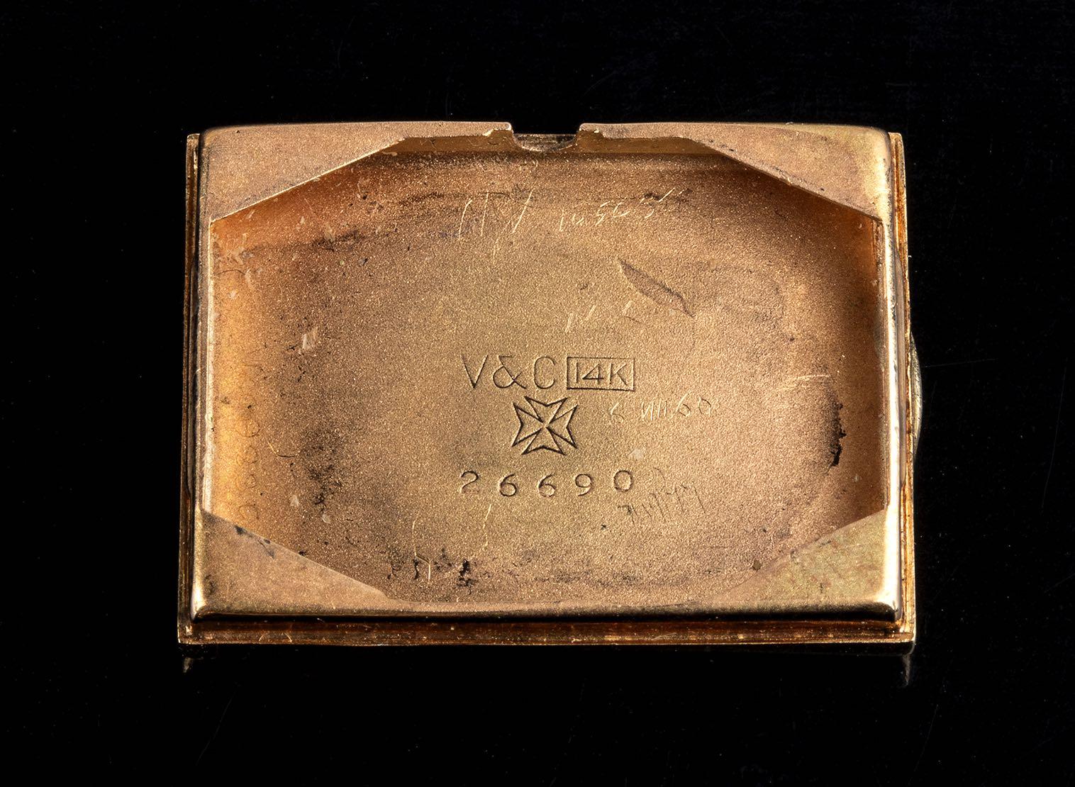 Vacheron Constantin Rectangular 14 kt gold case 1930 circa - Image 3 of 3