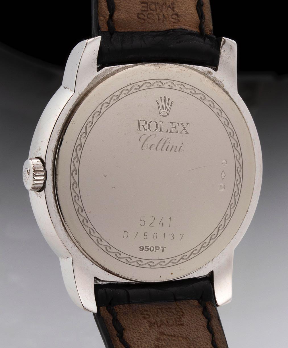 """ROLEX CELLINI, """"Cellinium"""" platinum ref. 5241/6, 2005, full set - Image 3 of 5"""