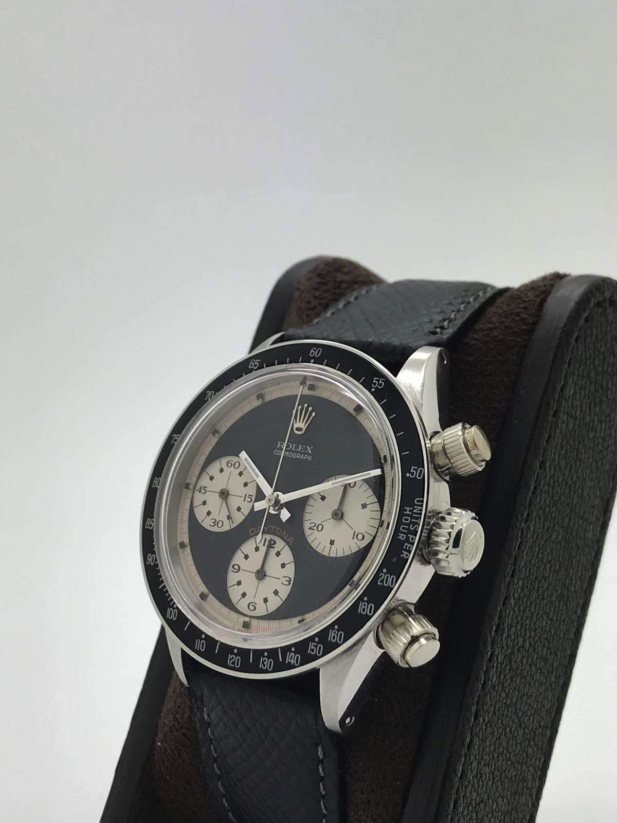 "Rolex Daytona ""Paul Newman"" 6240 wide t swiss t Three color black dial circa 1969 - Image 3 of 8"