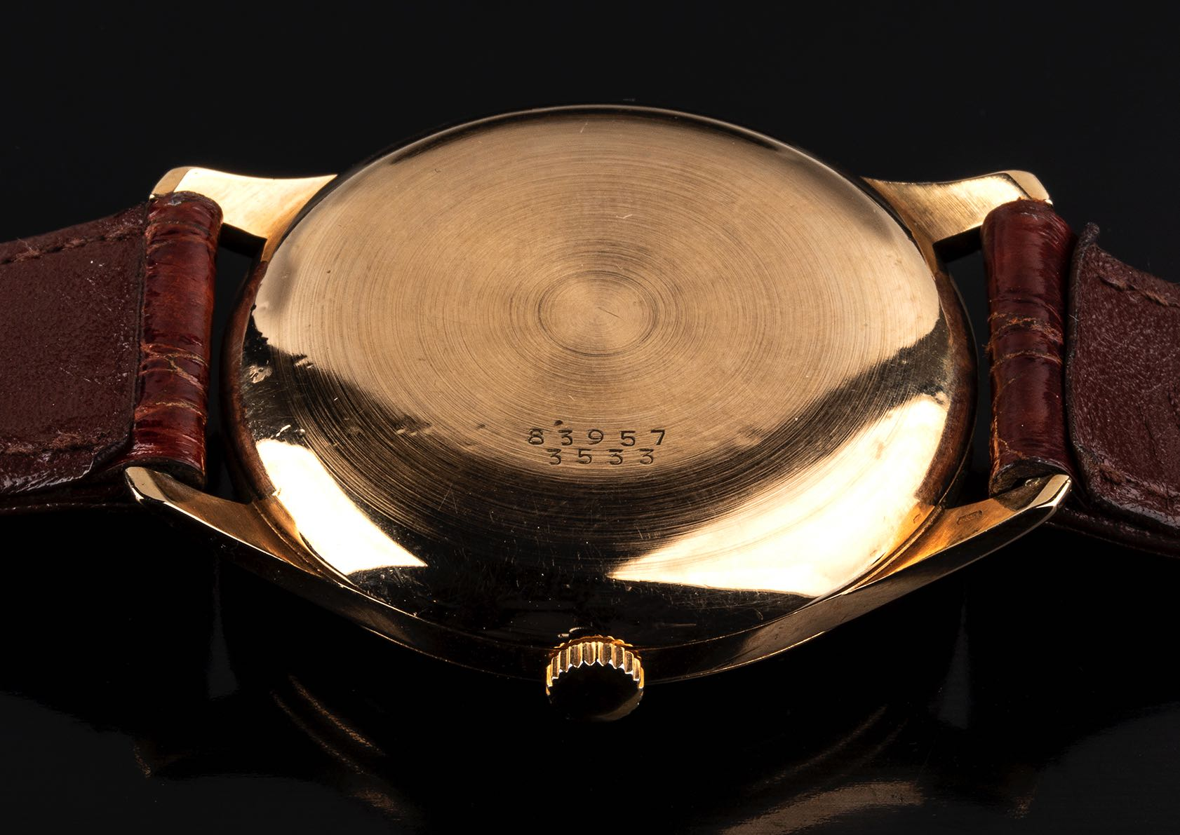 Baume et Mercier, 18 kt gold, Bubble Back Look, 50' - Image 3 of 4