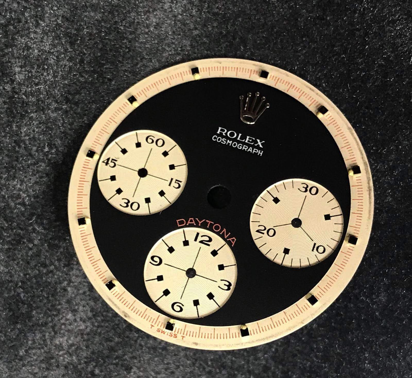 "Rolex Daytona ""Paul Newman"" 6240 wide t swiss t Three color black dial circa 1969 - Image 6 of 8"