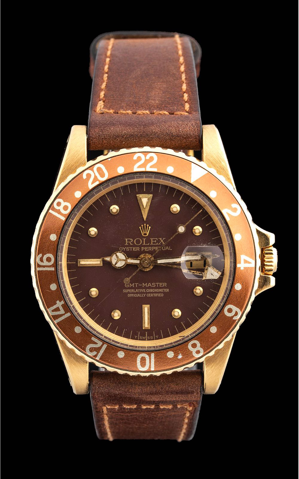 Rolex GMT-Master ref 1675 yellow gold 1975