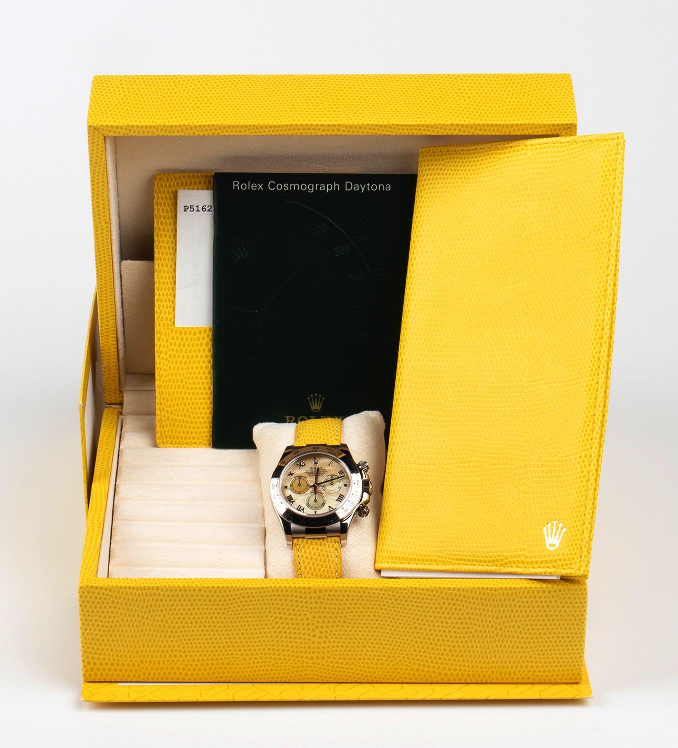"Rolex Daytona ""Beach"" ref 116519 white gold New Old stock, 2000. - Image 3 of 3"