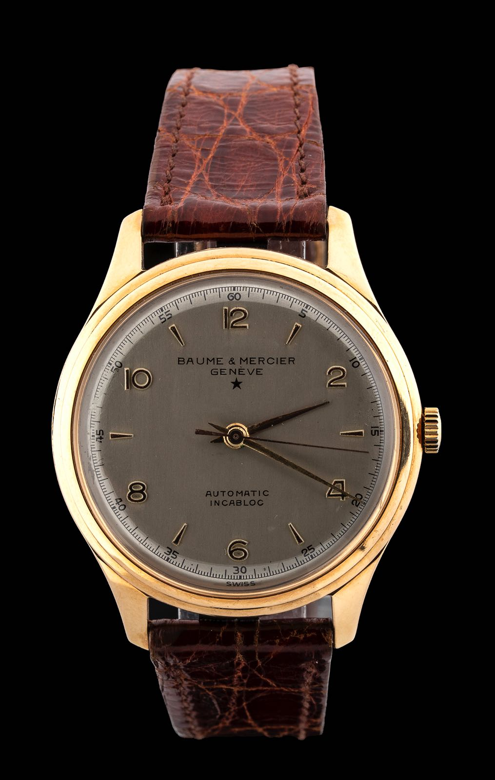 Baume et Mercier, 18 kt gold, Bubble Back Look, 50'