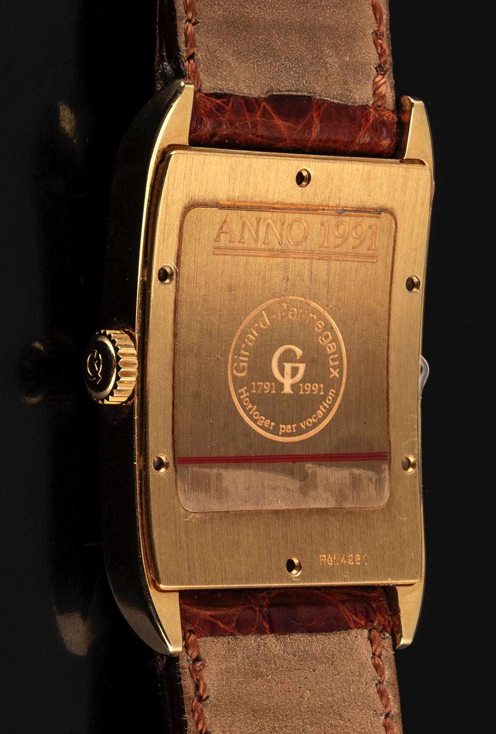 Girard Perregaux, 18 kt gold, 1791/1991 anniversary, Limited Edition, Ref.4961, Like N.O.S., full se - Image 4 of 4