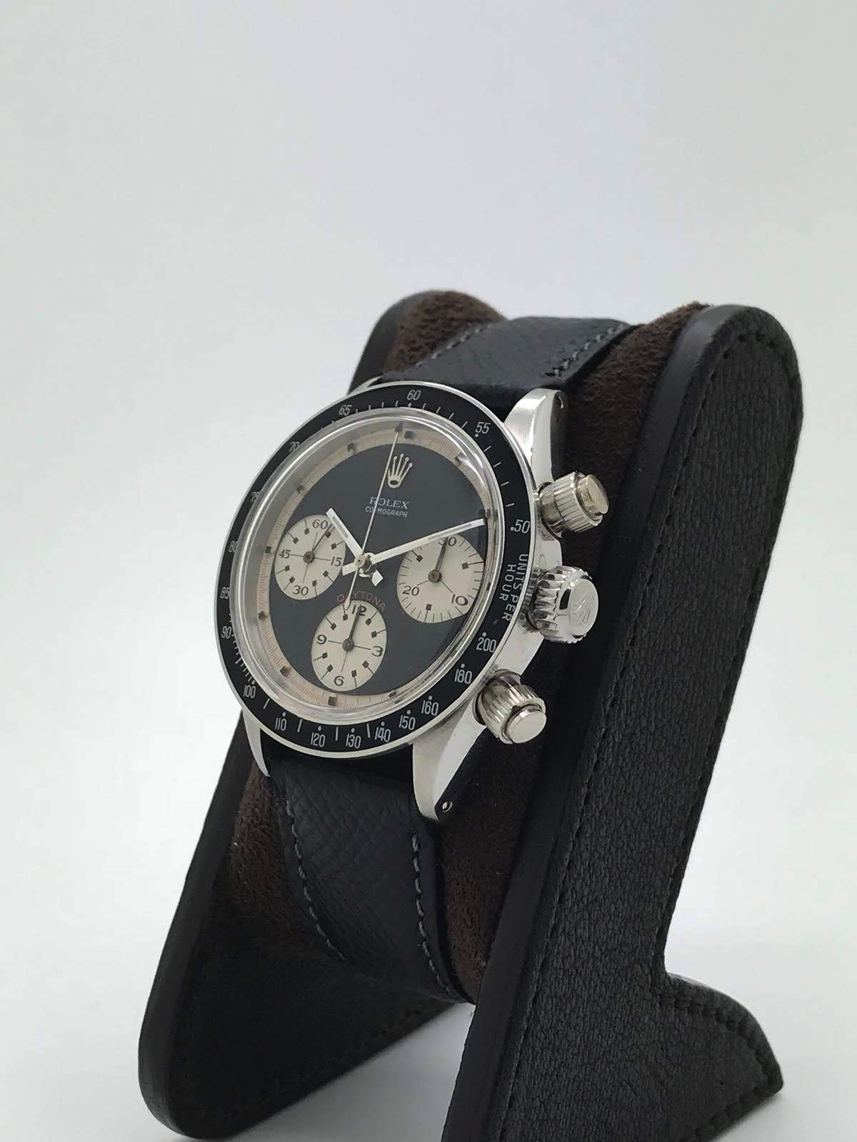 "Rolex Daytona ""Paul Newman"" 6240 wide t swiss t Three color black dial circa 1969 - Image 2 of 8"