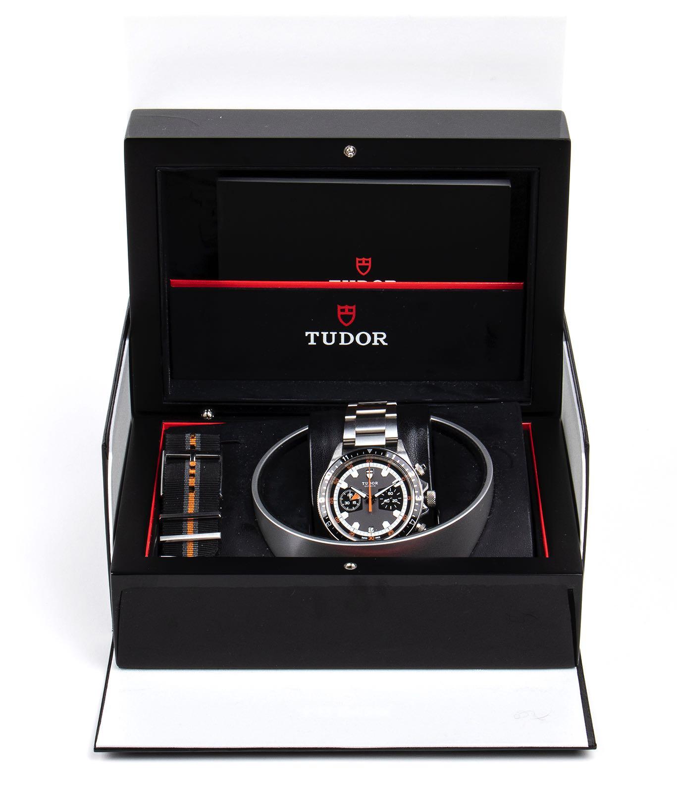 Tudor Chronograph, Montecarlo ref 70330N. - Image 3 of 3