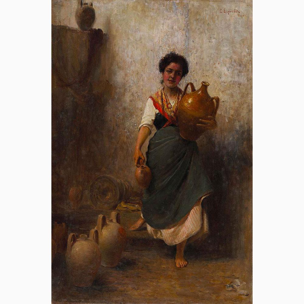 GAETANO ESPOSITO Salerno, 1858 - Sala Consilina, 1911-The water-seller
