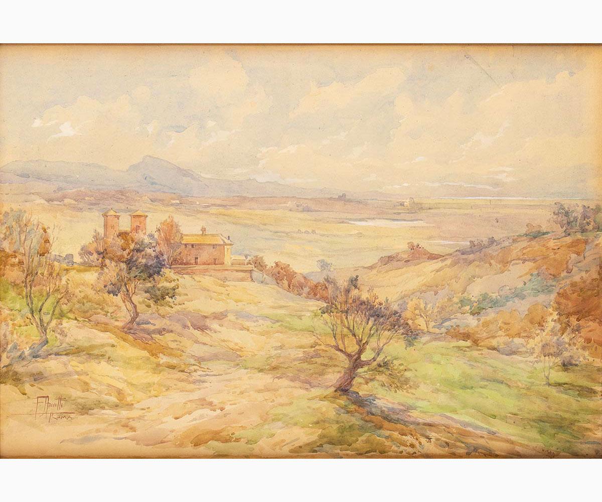FILIPPO ANIVITTI Rome, 1876 - 1955-Roman countryside