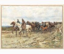 ENRICO COLEMAN Rome, 1846 - 1911-Butteri, 1879