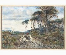 ENRICO COLEMAN Rome, 1846 - 1911-Pine forest on the Lazio coast
