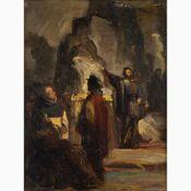 DOMENICO MORELLI Naples, 1823 - 1901-Michelangelo presenting the Pietà