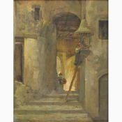 ALBERTO CAROSI Rome, 1891 - 1967-Edicule at Anticoli Corrado