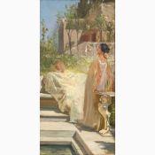 PIETRO VANNI Viterbo, 1845 - Rome, 1905-Handmaid at the fountain