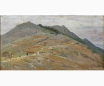 LORENZO CECCONI Rome, 1863 - 1947-The Soratte Mountain