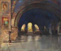 DANTE RICCI Serra San Quirico, 1879 - Rome, 1957-Church interior