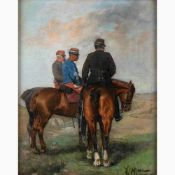 FRANCESCO MANCINI known as LORD Naples, 1830 - 1905-Soldiers on horseback