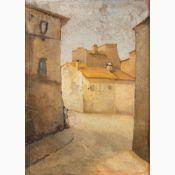 ANONYMOUS PAINTER OF XX CENTURY-Houses