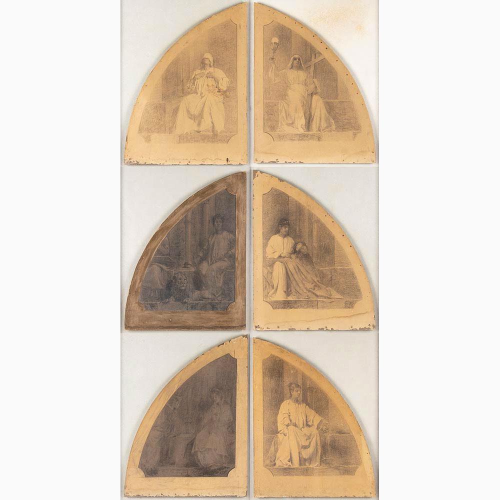 PIETRO VANNI Viterbo, 1845 - Rome, 1905-Six sacred scenes