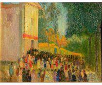 EVANGELINA GEMMA ALCIATI Torino, 1883 - 1959-Procession in the countryside