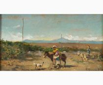PIETRO BARUCCI Rome, 1845 - 1917-Country landscape