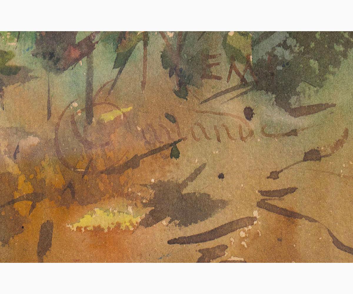 ONORATO CARLANDI Rome, 1848 - 1939-Undergrowth - Image 2 of 2