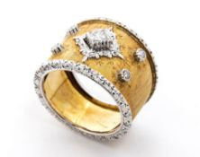 Vintage diamonds band ring - manifacture BUCCELLATI, Milan, Italy