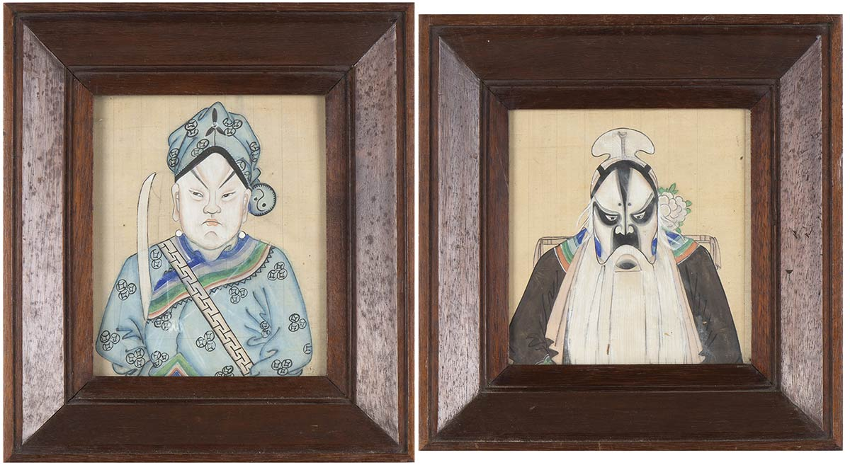 TWO PORTRAITS OF BEIJING OPERA ACTORSChina, 20th century