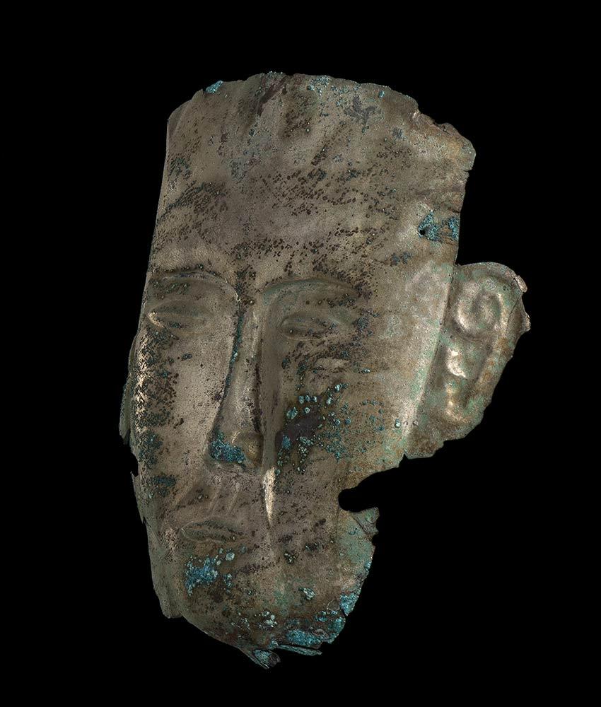 MASCHERA FUNERARIA IN ARGENTOCina, dinastia Liao - Image 2 of 4