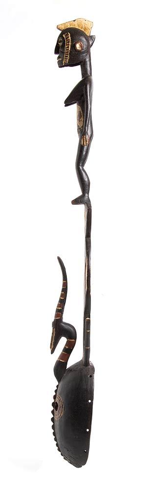 A PAINTED WOOD 'KARAN WEMBA' MASKBurkina Faso, Mossi - Image 3 of 3