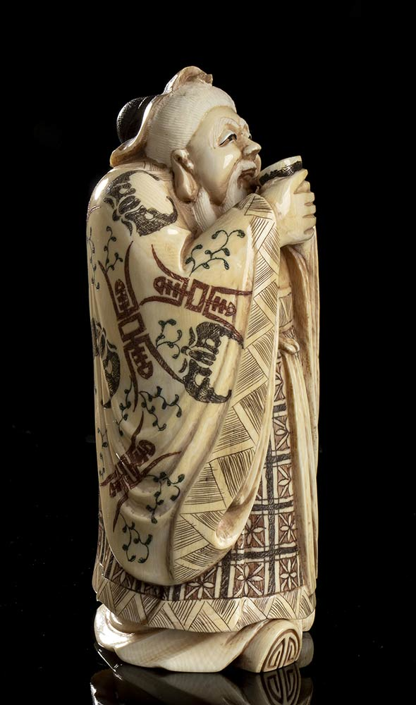 FOUR IVORY SCULPTURESChina, early 20th century - Image 3 of 6