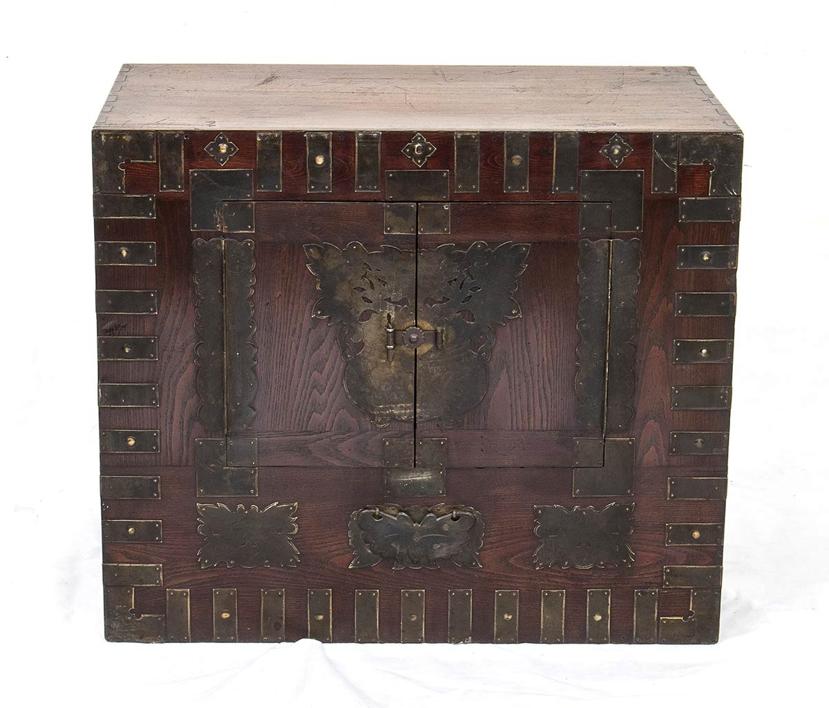 A WOOD AND METAL CHEST, BANDAJIKorea, 19th-20th century