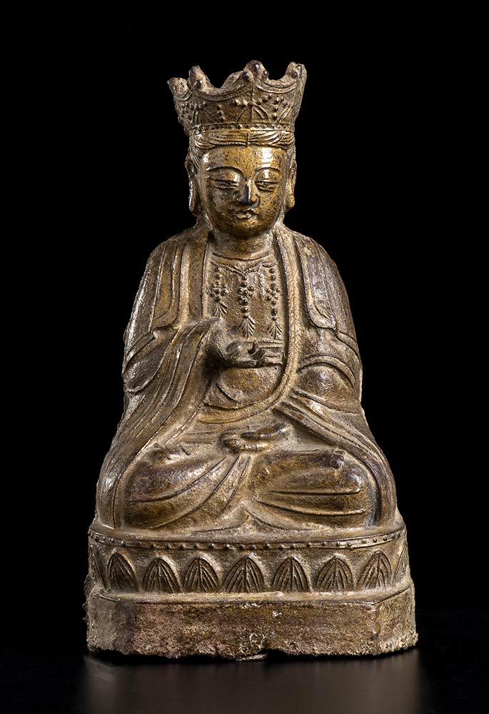 AN IRON BODHISATTVA China, Qing dynasty