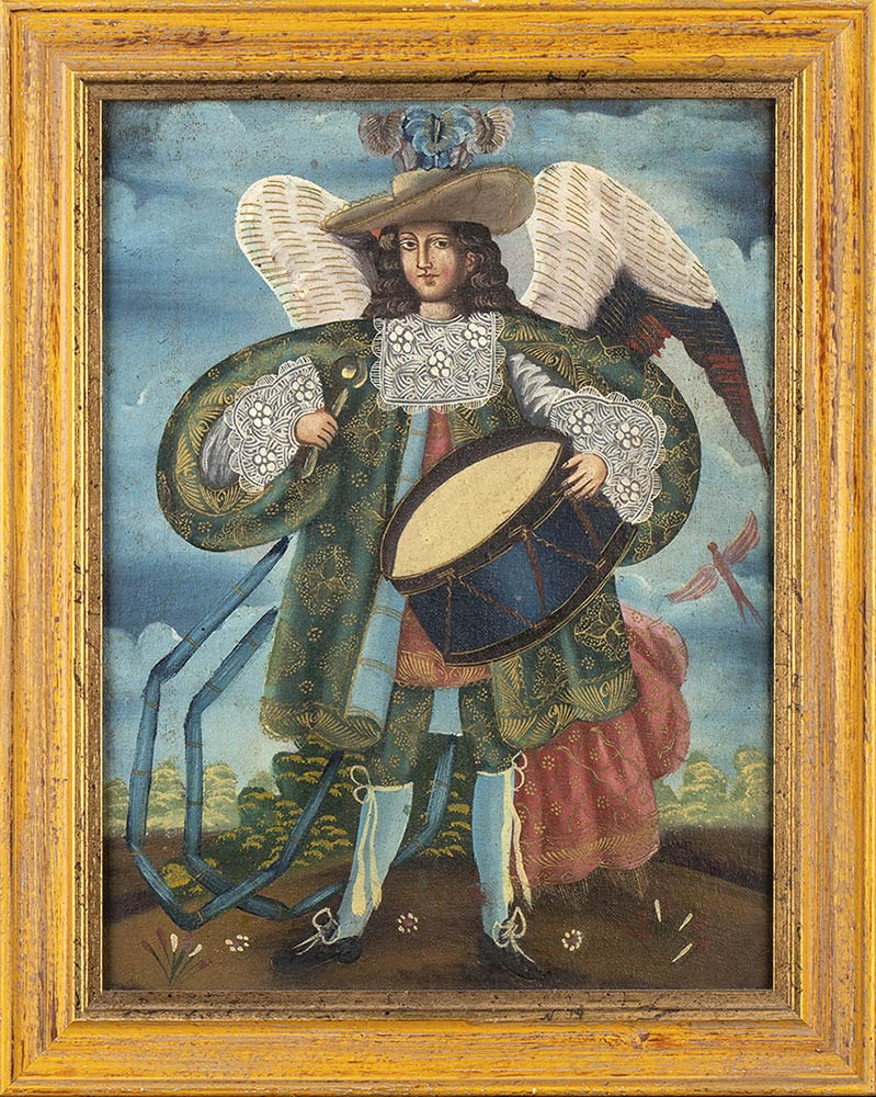 THREE CHRISTIAN THEME PAINTINGSPeru, colonial style, 20th century - Image 4 of 4