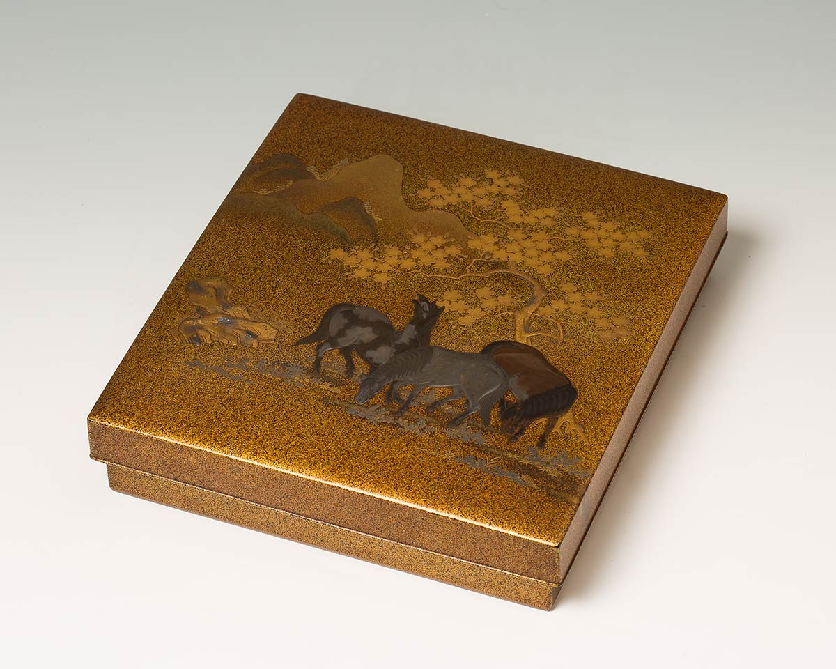A LACQUERED AND GILT WOOD WRITING SET, SUZURIBAKOJapan, 19th century - Image 10 of 10