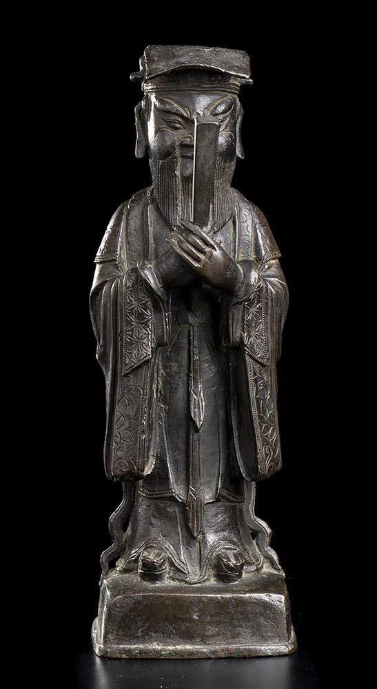 A BRONZE DAOIST DEITY China, Qing dynasty