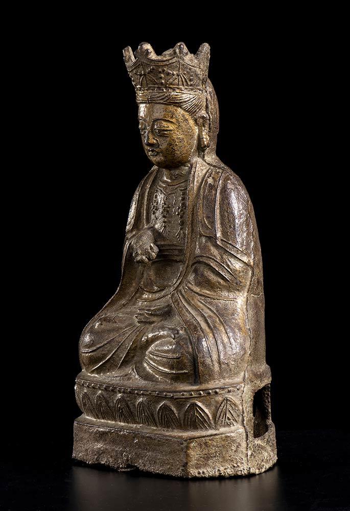 AN IRON BODHISATTVA China, Qing dynasty - Image 2 of 3