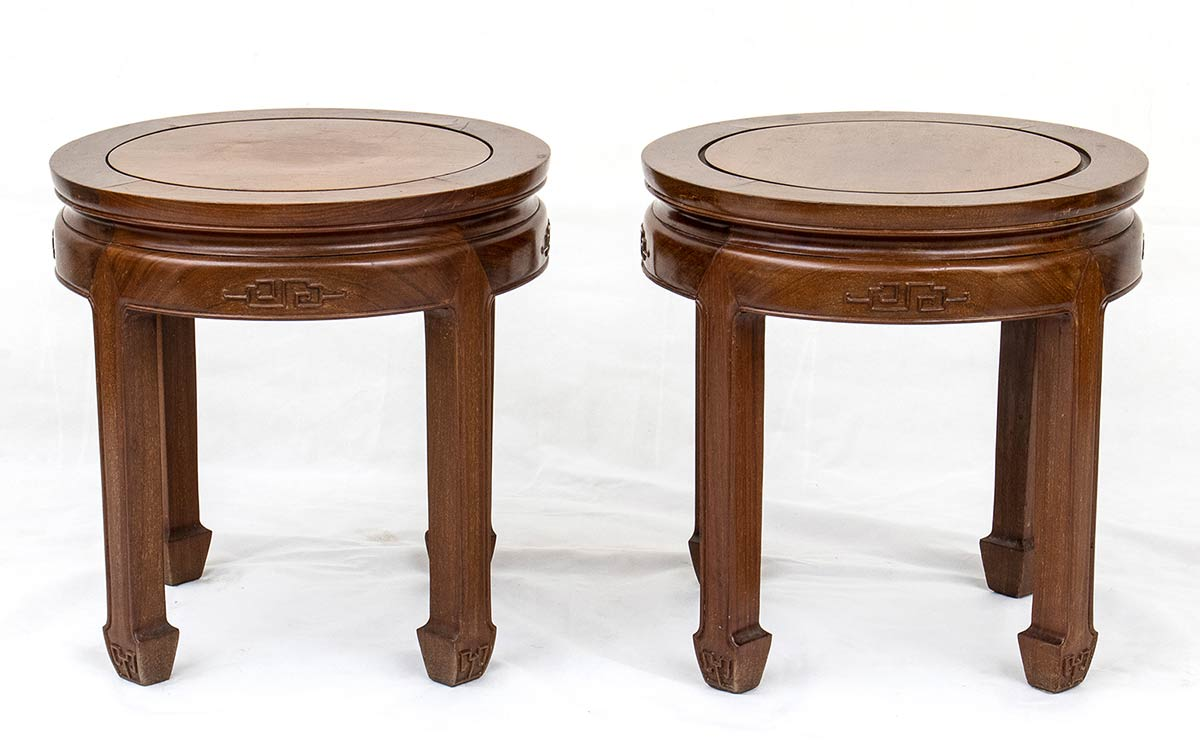A PAIR OF WOOD LOW TABLESChina, 20th century
