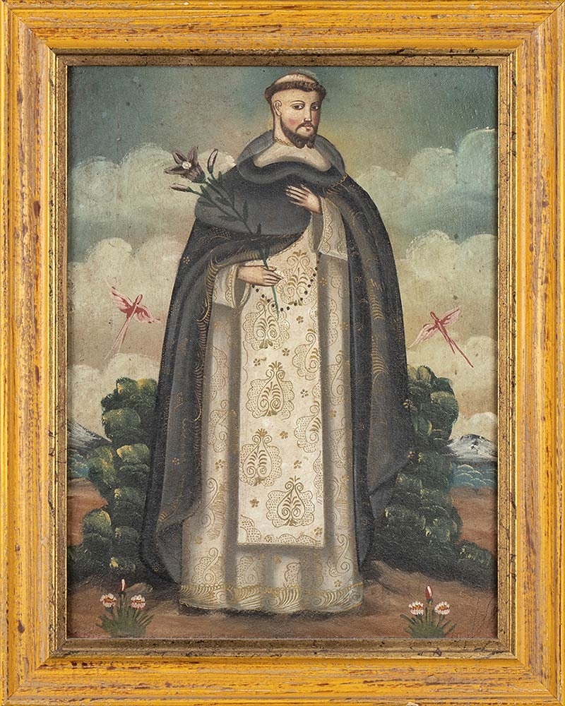 THREE CHRISTIAN THEME PAINTINGSPeru, colonial style, 20th century - Image 2 of 4
