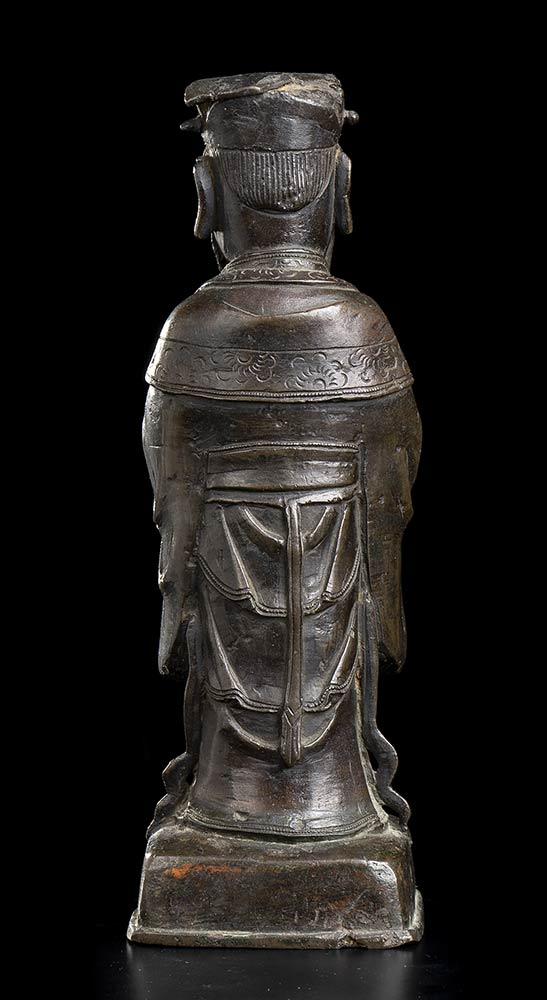 A BRONZE DAOIST DEITY China, Qing dynasty - Image 3 of 3