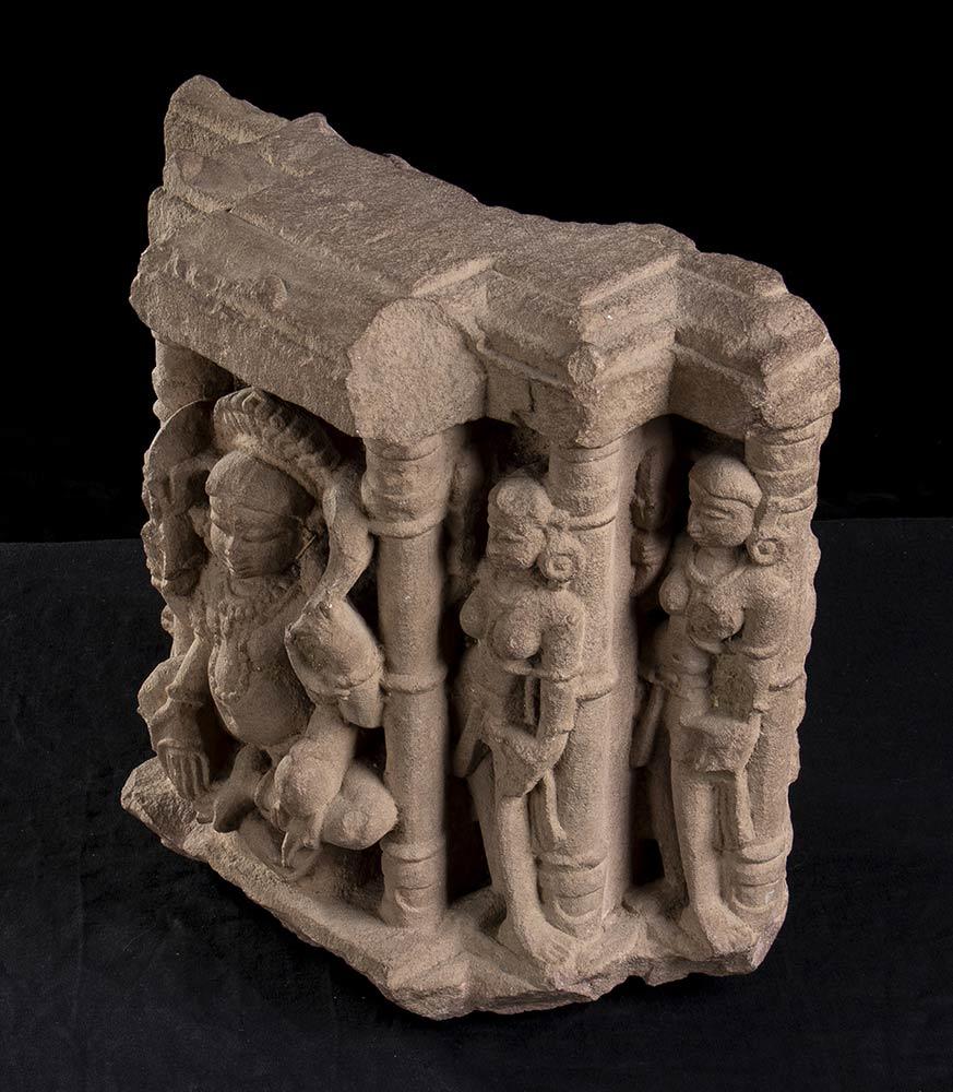 A STONE RELIEF WITH DEITIESIndia, Mathura, style of the Kushana period - Image 3 of 3