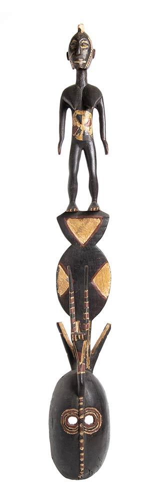 A PAINTED WOOD 'KARAN WEMBA' MASKBurkina Faso, Mossi - Image 2 of 3