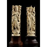 TWO IVORY SCULPTURES OF DEITIESIndia, early 20th century