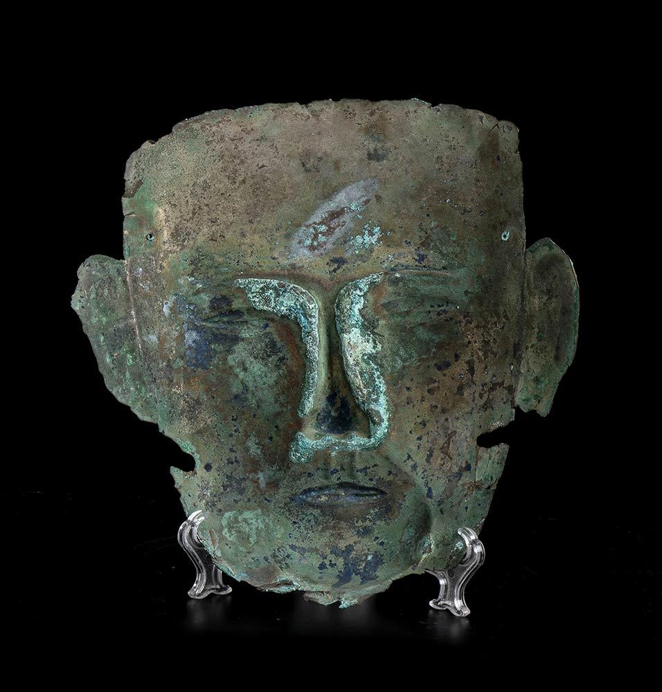 MASCHERA FUNERARIA IN ARGENTOCina, dinastia Liao - Image 3 of 4