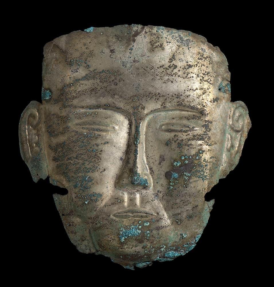 MASCHERA FUNERARIA IN ARGENTOCina, dinastia Liao