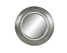 MIRROR A large circular silvered mirror, Italy c.1960. 115 x 115 x 8cm