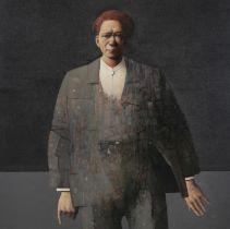 JOHN BOYD (b. 1957) Ad Hominum Oil on board 96 x 96cm Signed